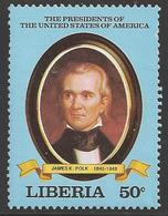 1981 US President, Polk, Mint Never Hinged - Liberia