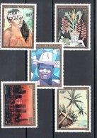 POLYNESIE N°84/88 - Poste Aérienne