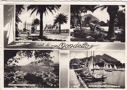 MONDELLO /  Saluti Con Vedutine _ Viaggiata Per Il Belgio 1954 - Palermo