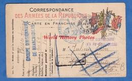 CPA Franchise Militaire Du Poilu Francis BUSES Groupe Divisionnaire De Brancardiers - Service De Santé Cachet WW1 Soldat - Marcofilie (Brieven)