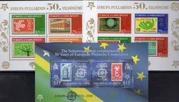 CEPT 2006 Salomon Bl.89,Türkei Blocks 58+59 ** 32€ Stamp On Stamps D242 Italy1016 Hb Bloque Blocs Ss Sheets Bf CEPT - Salomon (Iles 1978-...)