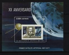 KUBA - Block Nr. 50 - 12. April. 20. Jahrestag Des Erfolgreichen Starts Von Sputnik I - Postfrisch - Blocks & Kleinbögen