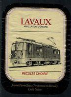 Rare // Etiquette De Vin // Trains  // Lavaux, Récolte Choisie - Trains