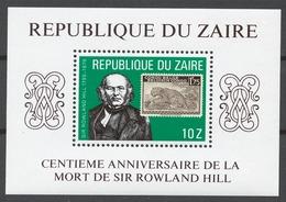 Zaire 1980 Mi# 631-39+ Bl.32** SIR ROWLAND HILL, STAMP ON STAMP - Zaïre