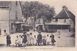 CPA : Gevingey (39)  Ecole De Filles Et Lavoir   Belle Scène  D'écoliers  Ed Sauvageot épicier - France
