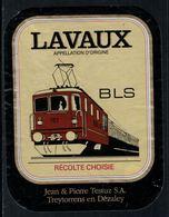 Rare // Etiquette De Vin // Trains  // Lavaux, Récolte Choisie, BLS - Trains