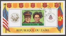 Zaire 1980 Mi# Bl.34 (CTO) SALVATION ARMY, CENTENARY - Zaïre