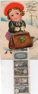 """! CP à Système """" Bonne Année """" Languette Avec Billets De Banque Belges - Cartoline Con Meccanismi"""