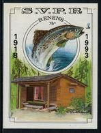 Rare // Etiquette De Vin // Poissons  // S.V.P.R.  Renens 1918-1993 - Pesci