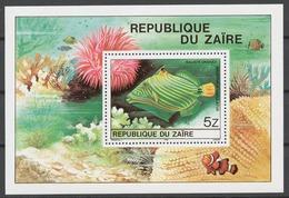 Zaire 1980 Mi# Bl.38** FISH - Zaïre