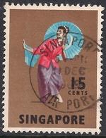 Singapore 1968 - 73 QE2 15 Ct Tari Payong Dancer  SG 106.( K1019 ) - Singapore (1959-...)