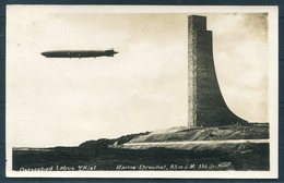 1933 Germany Zeppelin Ostseebad Laboe Kiel RP Postcard. Kiel, Hamburg - Amsterdam Holland - Duitsland