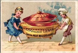 0014 LIEBIG FRENCH Collection - 1872 - 1  Chromo Litho,  Sang 14 -  Compagnie In OBJECT, 2 Persons, Cooking Pan - Liebig