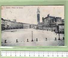 SIENA Piazza Del Campo _ Cartolina BN VG 19xx Rif.C0006 - Siena