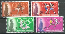 Togo YT N°582/585 Jeux Olympiques De Mexico 1968 Neuf ** - Togo (1960-...)