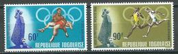 Togo Poste Aérienne YT N°86/87 Jeux Olympiques De Mexico 1968 Neuf ** - Togo (1960-...)
