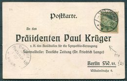 1920 Germany Unser Mitgefuhl Dem Treven Vater Seines Volkes Postcard - President Paul Kruger, Berlin - Allemagne