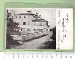 FAUGLIA Montalto Villa Bellini Pietri _ PISA Cartolina BN VG 1917 Rif.C0013 - Pisa
