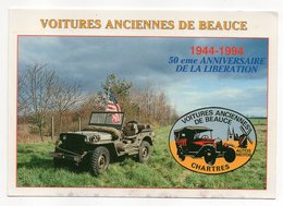 GELLAINVILLE-15 Mai 1994-Voitures Anciennes De Beauce (Chartres-Bonville)50ème Anniv. Libération-JEEP,drapeau Américain) - Otros Municipios