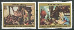 Togo Poste Aérienne YT N°143/144 Noel 1970 Neuf ** - Togo (1960-...)