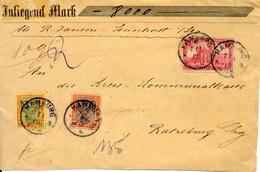 Contre Remboursement De Hamburg Sur Devant De Lettre 1902 Nachnahme - Briefe U. Dokumente