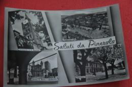 Torino Pinerolo Vedutine Con La Stazione Bahnhof Gare Station NV - Autres Villes