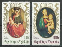 Togo Poste Aérienne YT N°171/172 Noel 1971 Neuf ** - Togo (1960-...)