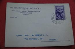 Torino Forno Canavese Ditta Battista Lavorazione Ferro 1953 - Autres Villes