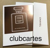 CC Carte Parfumée 'CHANEL' 'COCO MLLE INTENSE Perfume Card Avec Enveloppe - Perfume Cards