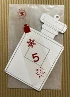 CC Carte Parfumée 'CHANEL' 'No5 DECO NOEL' Perfume Card Avec AUTOCOLLANTS ROUGE 1 EX.! - Perfume Cards