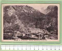 LOCANA Fraz ROSONE Centrale Idroelettrica _ TORINO Cartolina BN VG 1934 Rif.C0026 - Italie