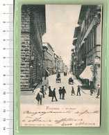 FIRENZE Via Cavour _ Cartolina BN VG 1901 Rif.C0027 - Firenze (Florence)