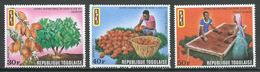 Togo YT N°711/713 Journée Internationale Du Cacao Neuf ** - Togo (1960-...)