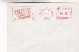 ENVELOPPE TELECOM 1991 ENCOTEL AFFRANCHISSEMENT MECANIQUE. ARGENTINE - BLEUP - Argentine