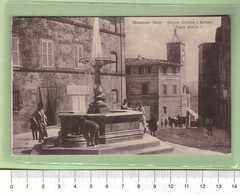 CHIANCIANO Piazza Umberto I _ SIENA Cartolina BN VG 1917 Rif.C0029 - Siena