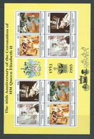 Nevis 1993 QEII Coronation Anniversary Sheet Of 8 MNH - St.Kitts And Nevis ( 1983-...)