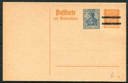 Germany Bayern / Deutsches Reich Mixed Franking Stationery Replycard - Briefe U. Dokumente