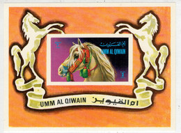 UMM  AL  QIWAIN     TESTA  DI  CAVALLO      (SHEET    MNH**  IMPERF.) - Umm Al-Qiwain