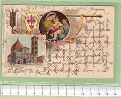 FIRENZE Ricordo _ Cartolina VG 1904 Rif.C0034 - Firenze (Florence)