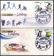 COLOMBIA- KOLUMBIEN- 2012 FDC/SPD. OLYMPICS LONDON 2012. SET X 2 COVERS - Colombie