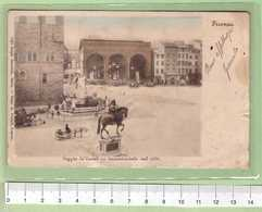 FIRENZE Loggia Del Lanzi _ Cartolina BN VG SF 19xx Rif.C0038 - Firenze (Florence)