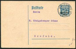 1921 Germany Deutsches Reich / Bayern Stationery Postcard. Beyreuth - Crefeld - Allemagne