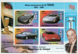 REPUBBLIQUE  DU  SENEGAL    40éME  ANNIVERSAIRE DE   DE TOMASO             (SHEET   MNH** ) - Senegal (1960-...)