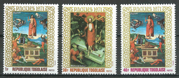 Togo YT N°703/705 Pâques 1971 Neuf ** - Togo (1960-...)