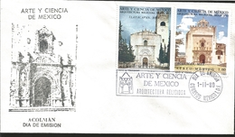 J) 1980 MEXICO, ART AND SCIENCE OF MEXICO, RELIGIOUS ARCHITECTURE XVI CENTURY, TLAYACAPAN MORELOS, ACOLMAN MEXICO, MULTI - Mexique