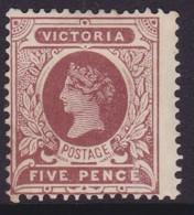 Victoria 1908 P.12.5 SG 422a Mint Hinged - 1850-1912 Victoria