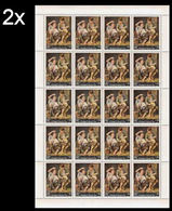 CV:€44.00 BULK: 2 X YEMEN KINGDOM 1967 Painting By Bartolomé Esteban Murillo Fruits 14B COMPLETE SHEET:20 Stamps Spain - Yemen