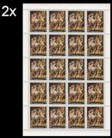 CV:€44.00 BULK: 2 X YEMEN KINGDOM 1967 Painting By Bartolomé Esteban Murillo Fruits 14B COMPLETE SHEET:20 Stamps Spain - Art