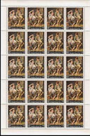 CV:€22.00 YEMEN KINGDOM 1967 Painting By Bartolomé Esteban Murillo Fruits 14B COMPLETE SHEET:20 Stamps Spain - Art