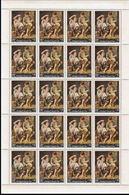 CV:€22.00 YEMEN KINGDOM 1967 Painting By Bartolomé Esteban Murillo Fruits 14B COMPLETE SHEET:20 Stamps Spain - Yemen